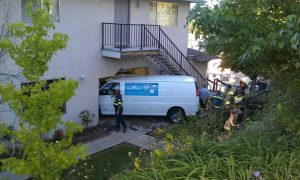 That time the van tried to visit the apartment